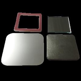 Kit de botton espelho 51 quadrado com aro ABS pct. 50un