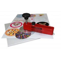 """Cortador giratório (diâmetro 33 a 203(8"""""""") ) com base PP 195 x 195 mm (sem disco de apoio)"""